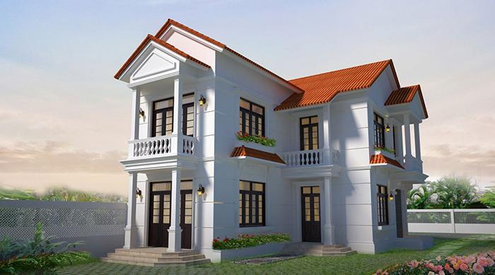 xây nhà 2 tầng 600 triệu